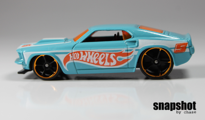 Hot Wheels 69 Ford Mustang Side Profile