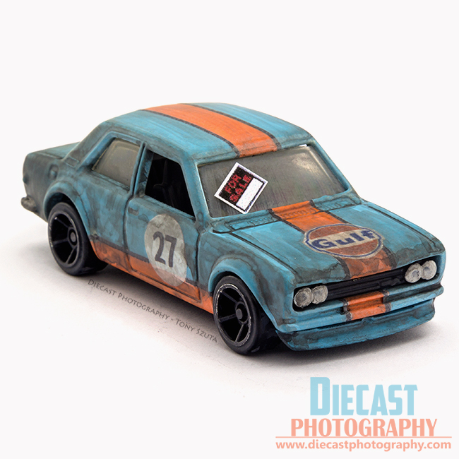 Custom hot wheels datsun bluebird 510 gulf livery