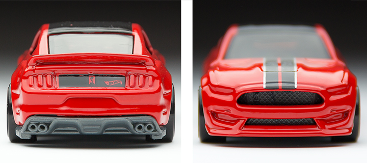 2016 Hot Wheels Ford Mustang Shelby GT350R - Front / Rear Profiles